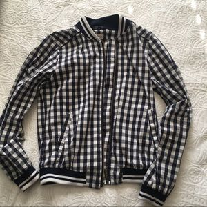 Buffalo check bomber jacket